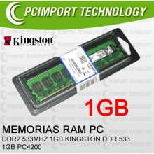MEMORIA RAM DDR2 533MHZ 1GB KINGSTON DDR 533 1GB PC4300