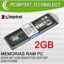 MEMORIA RAM DDR2 667MHZ 2GB KINGSTON PC5300