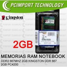 MEMORIA RAM DDR667 MHZ 2GB KINGSTON DDR2 667 2GB PC5300