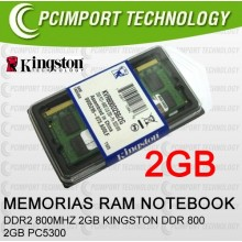 MEMORIA RAM DDR800 MHZ 2GB KINGSTON DDR 800 2GB PC6400 ddr2 800