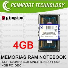 MEMORIA RAM DDR1333 MHZ 4GB KINGSTON PC10600 ddr3 1333