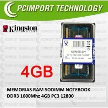 MEMORIA RAM DDR1600 MHZ 4GB KINGSTON PC5300 pc3 12800 ddr3 1600