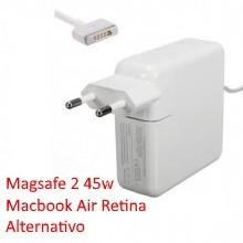 "Cargador Macbook Air Retina -11"" 13"" 45w magsafe 2 alternativo"